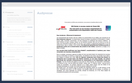 Audipresse newsletter home