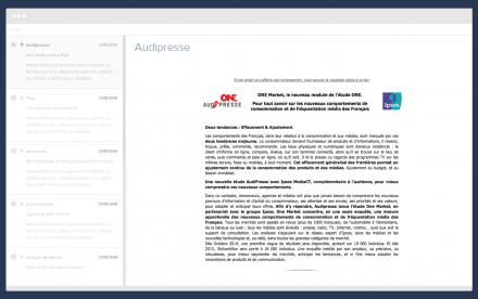 Audipresse newsletter home